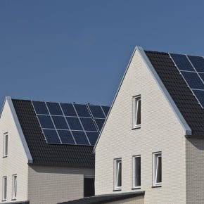 A housing development that could feature free solar panels.