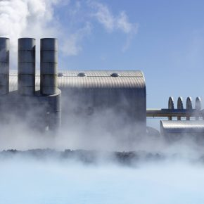 A geothermal power station.