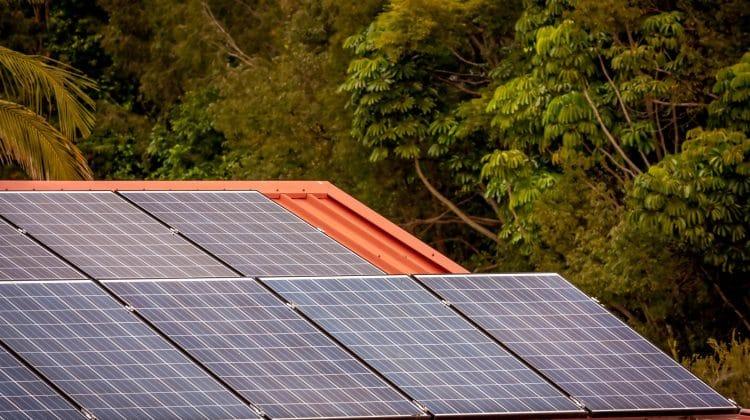 Solar energy been produced for a house.