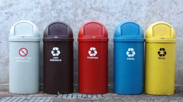A collection of widely used recycling symbols.