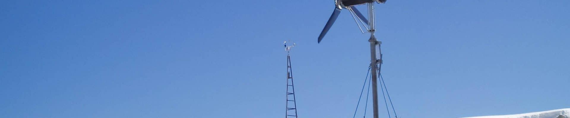 A small wind turbine in a remote location.