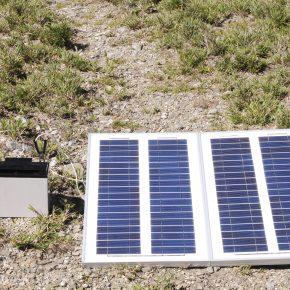 A solar electricity kit.