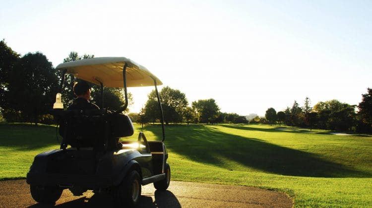 A golf cart that could run on solar panels.
