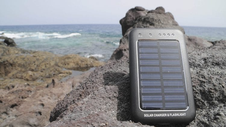 A solar power battery charger