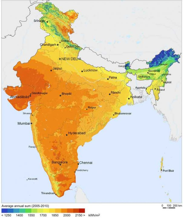 Solar Resource Map of India