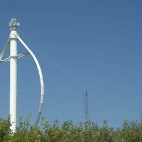 A vertical axis wind turbine in Canada.