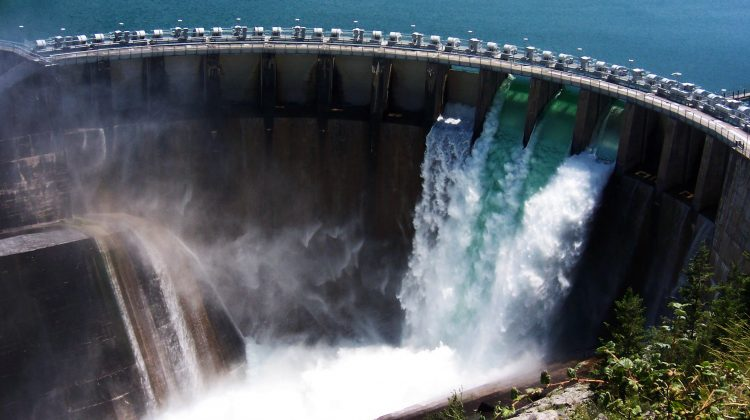 The Kerr hydroelectric dam in Montana, USA.