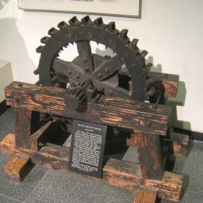 An image of the Pelton Impulse Turbine invented and patented in 1880.