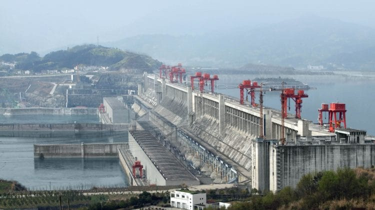 The Three Gorges Dam in China, the world's largest hydroelectric dam.