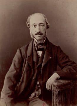 A portrait of Alexandre-Edmond Becquerel.