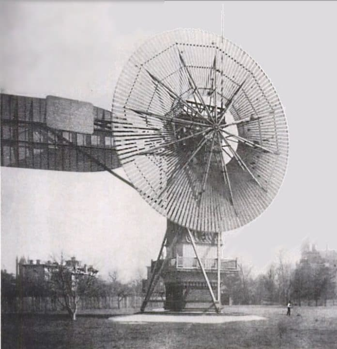 The world's first automatically operated wind turbine generator.