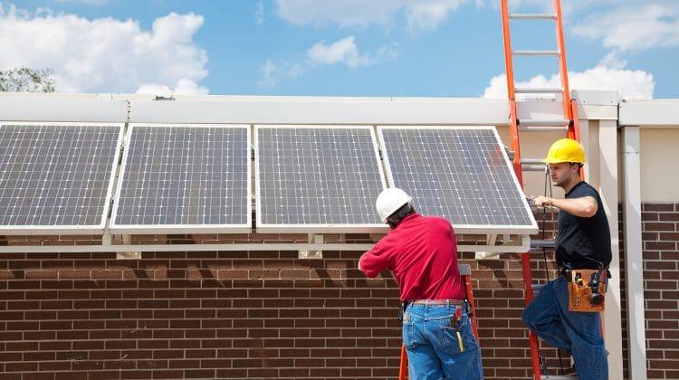 A solar energy installation.