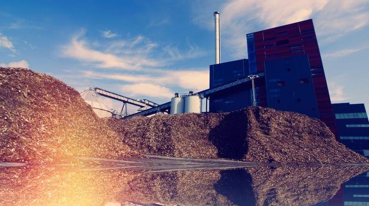 A biomass energy plant.