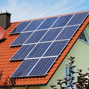 An important domestic solar energy system.