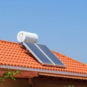 A domestic solar thermal energy system.