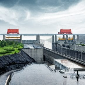 A hydroelectric dam in China.