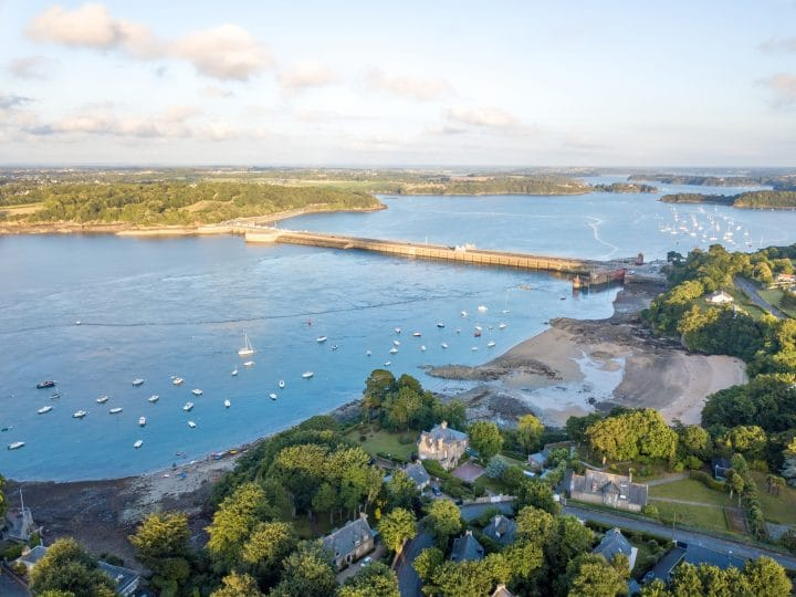 The La Rance Tidal Barrage in France.